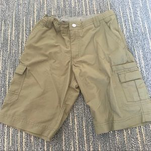 REI army green shorts